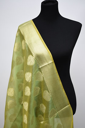 Green Art Silk Dupaata