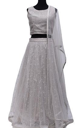 Silver Grey Lehanga Choli