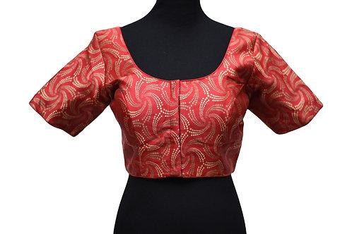 Red Silk Saree Blouse