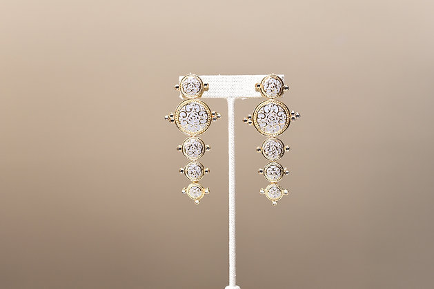 White Dangler Earring