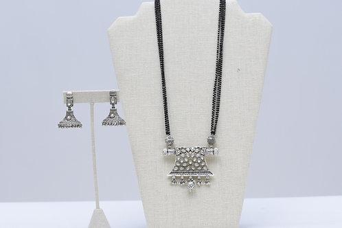 Kundan Oxidized Necklace