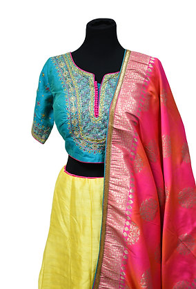Three color Lehanga Choli