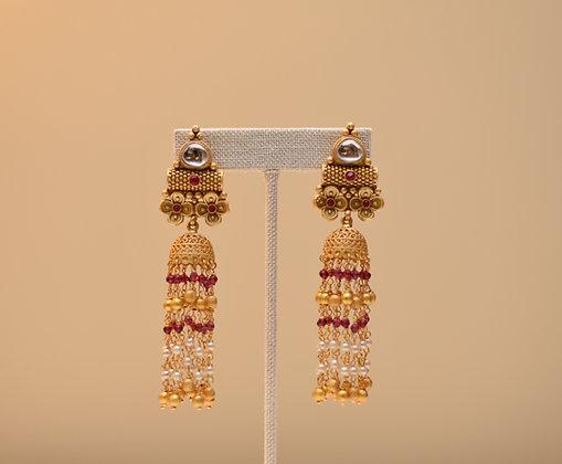 Chandelier Red  Earring