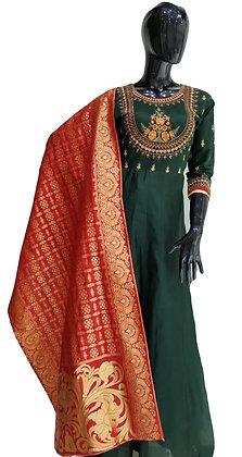 Green Red Abaya Style