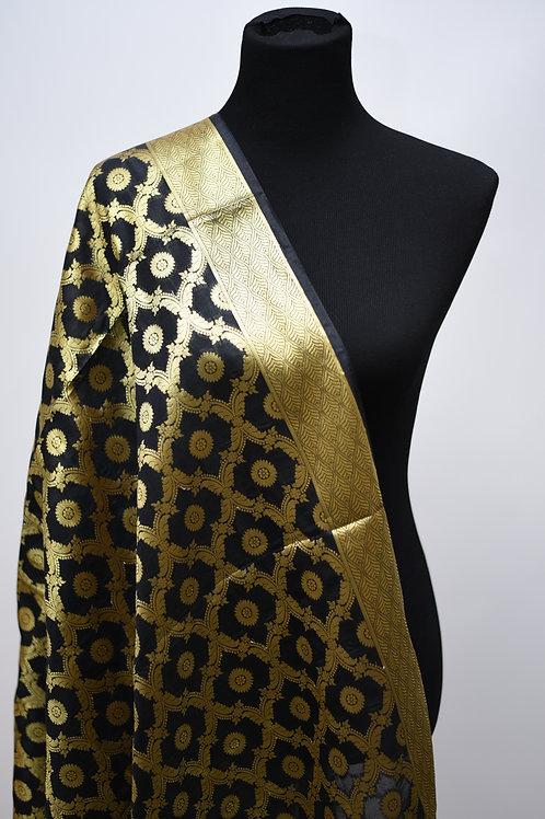 Black Semi Silk Dupatta