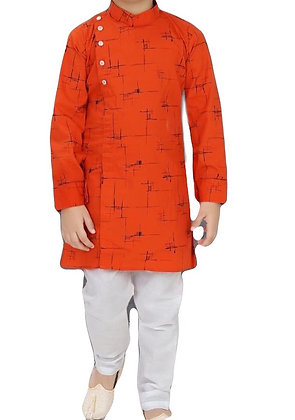 Boys Kurta Pajama Set in orange