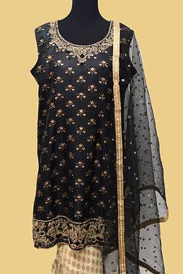 Black Golden Patiala Suit