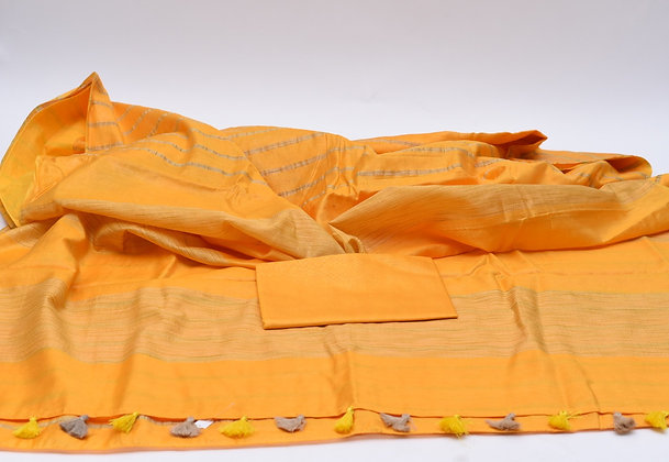 Beautiful Yellow Kota Silk Saree