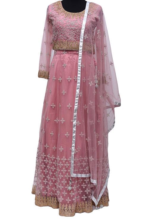 Rose Pink Lehanga Choli