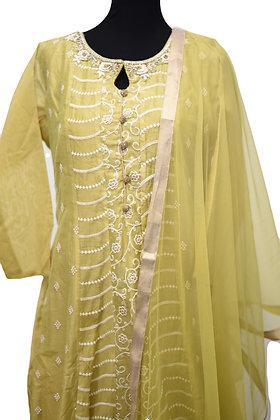 Green Abaya Style SalwarSuit