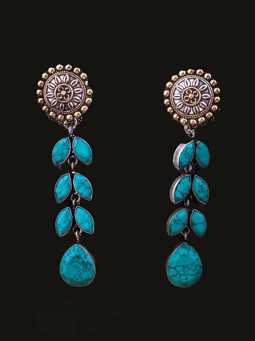 Sky blue Stone earring