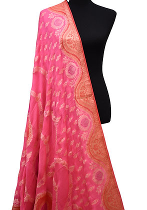 Georgette Banarasi Handloom khadi silk saree