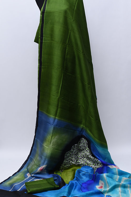 Green Blue Silk Saree
