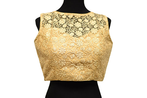 Golden Cut Sleeve Blouse