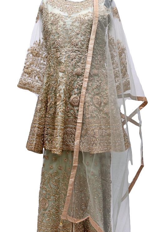 Mint Green Sharara Suit Set