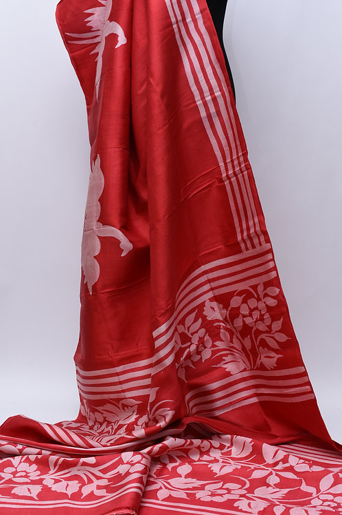 Handloom Red Silk Saree