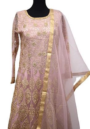 Blush Pink Abaya Style Suit