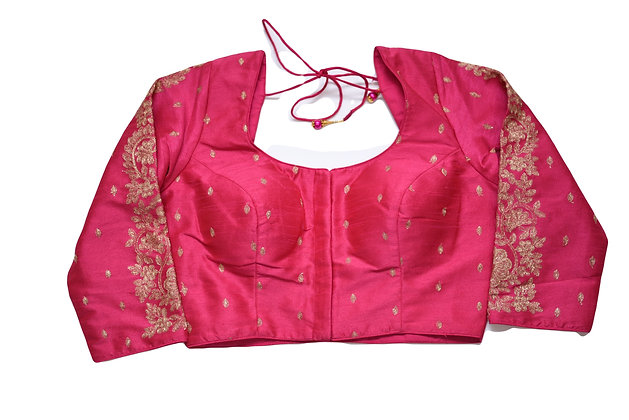 Beautiful Pink Silk Embroidery Blouse