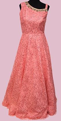 Pink CrochetGown