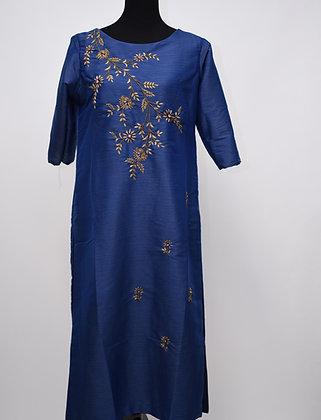Beautiful Blue Straight Suit
