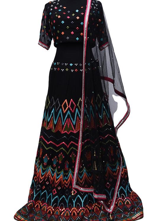 Black Lehanga Choli