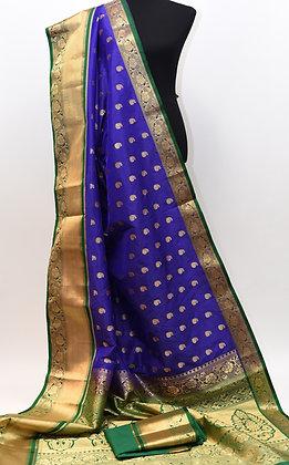 Blue Green Paithani Saree