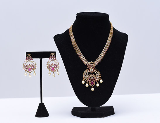 Pink AD Stone Necklace