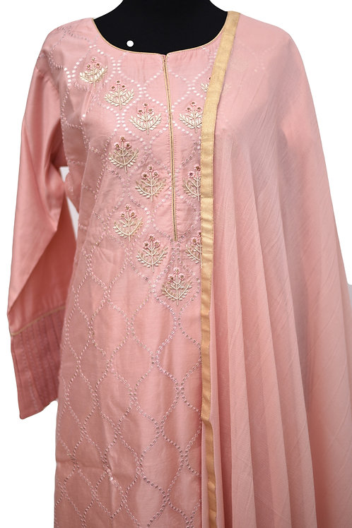 Blush Pink Plazzo Suit Set