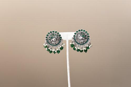 Green Stud Earring