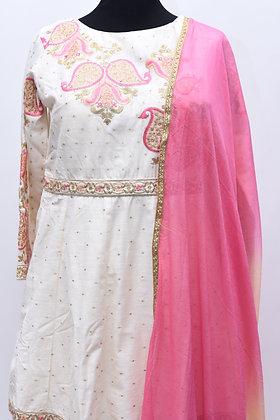 White Pink Sharara Suit Set
