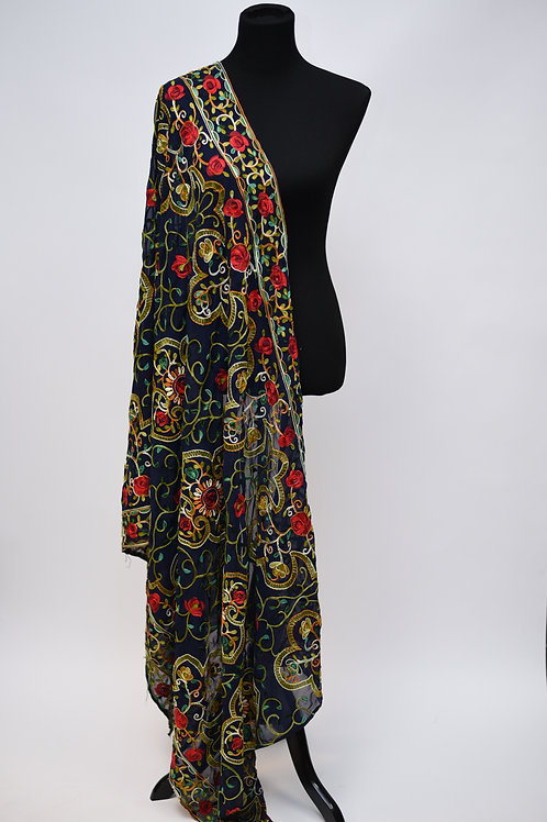 Black Embroidery Dupatta