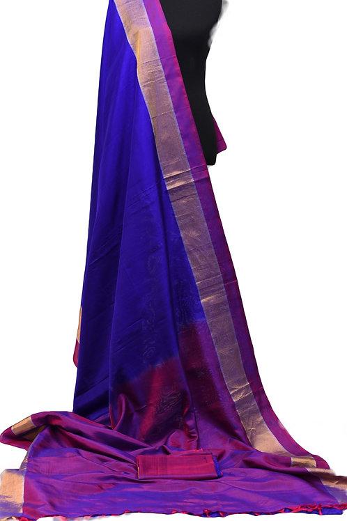 Uppada Silk Saree Blue Purple