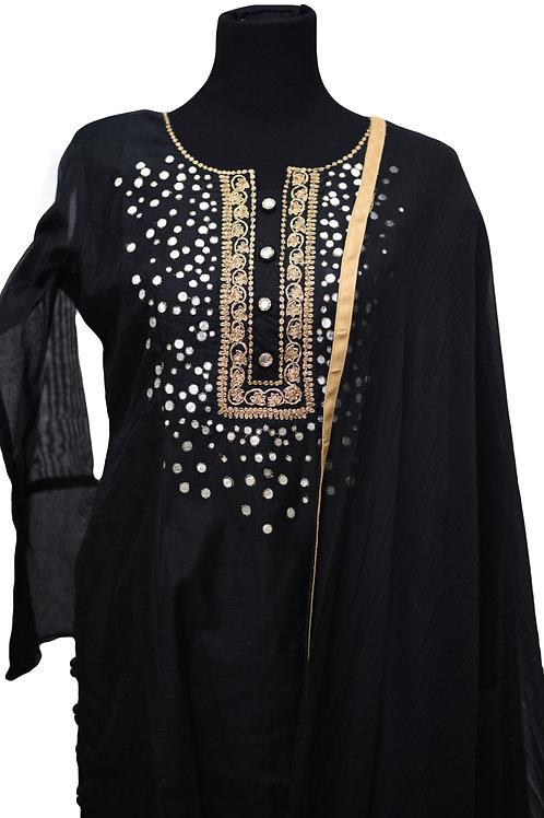 Black Mirror Work Panjabi Suit