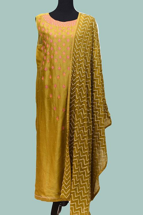 Olive Color Plazzo Suit  4Xl