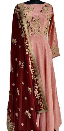 Pink Red Salwar Suit Set