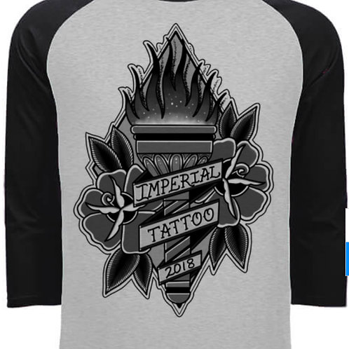 3/4 Sleeve Black and Grey Torch