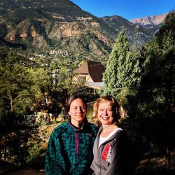Tricia & Ambika at Sun Mountain