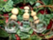 Fiole en verre Bouchon tourné épices huiles - médiéval cuisine by La Tournerie