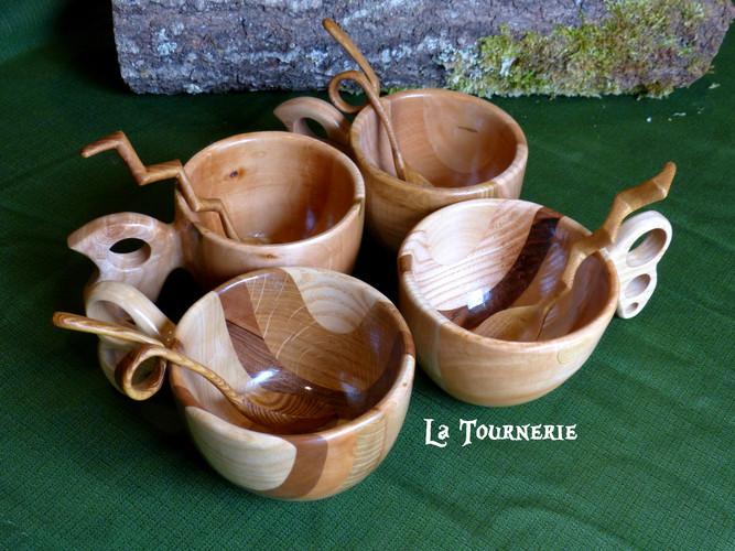 Service de Mug/Kuksas made in La Tournerie