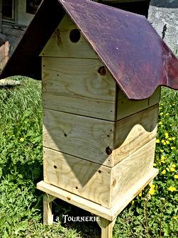 Ruche en bois type dadant - artisanal miel abeilles by La Tournerie