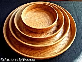 Ecuelle ou Assiette en bois tourné by La Tournerie