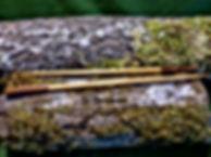 Paire de baguettes sculptée en bois artisanal by La Tournerie
