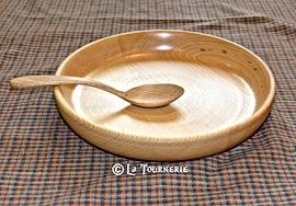 assiette écuelle bois by La Tournerie