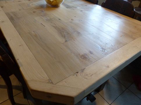 Réfection du plateau d'une table