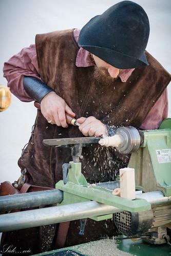 Démonstration tournage sur bois - La Tournerie