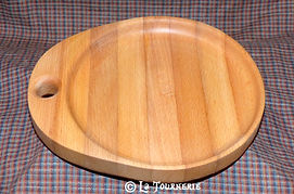 Ecuelle ou Assiette à anse en bois tourné by La Tournerie