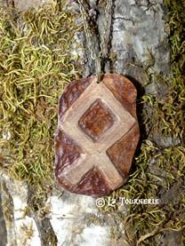 Othala - Pendentif bois - La Tournerie