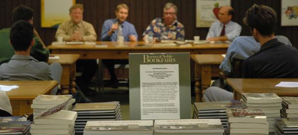 Authors Panel: Bill Lueders, Jason Stein, Ron McCrea and Craig Schreiner.
