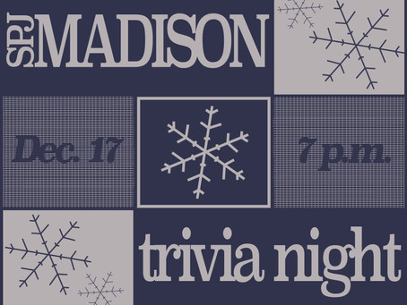 Online trivia night to replace SPJ Madison's annual Holiday Party and Raffle