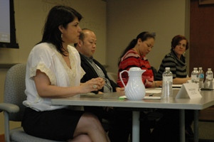 Brenda Gonzalez, Peng Her, Anne Thundercloud, and Nichelle Nichols